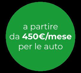 A partire da 450€/mese per le auto